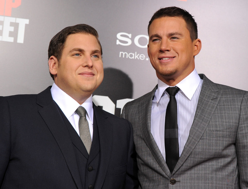 Channing Tatum and Jonah Hill posed for pictures.