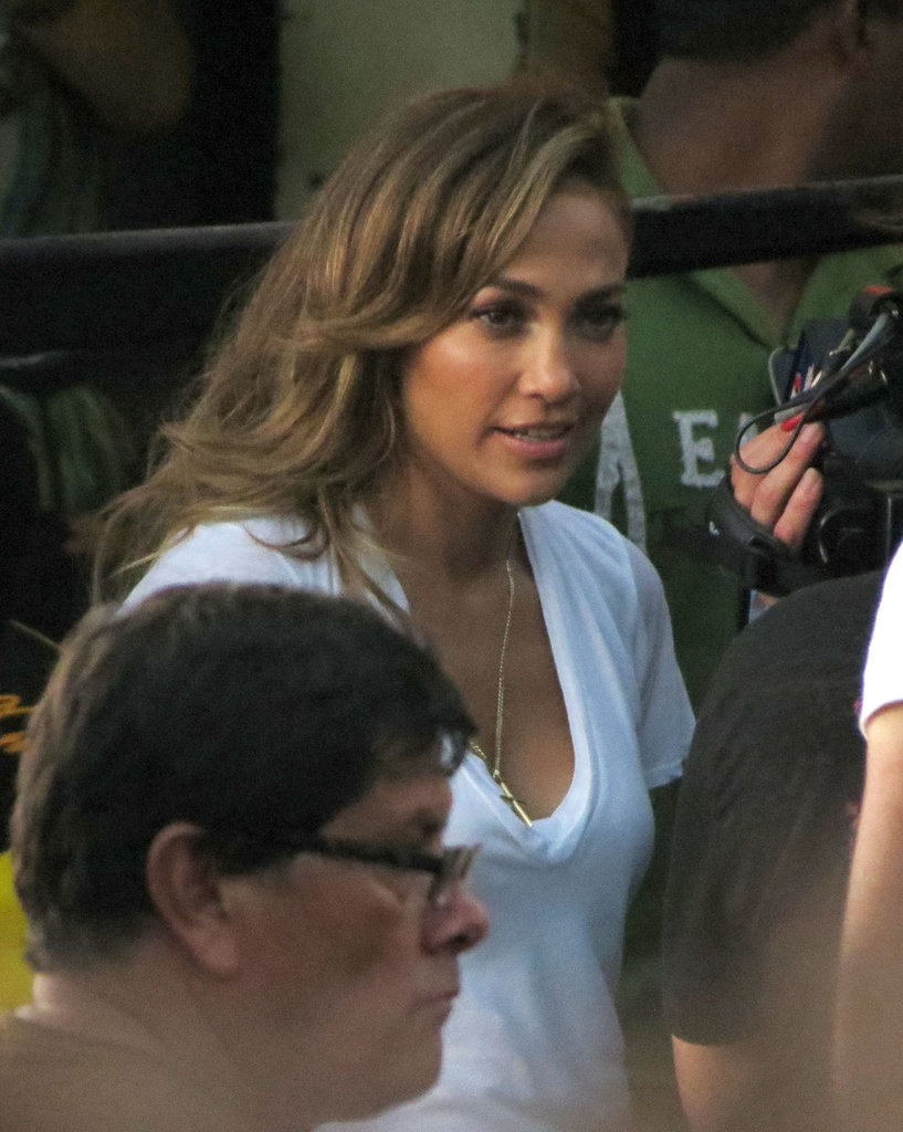 J Lo took direction from boyfriend Casper Smart.