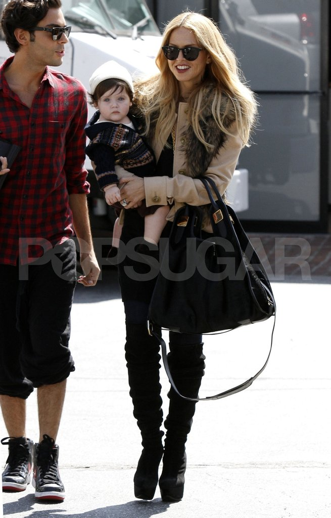 Rachel Zoe with son Skyler Berman.