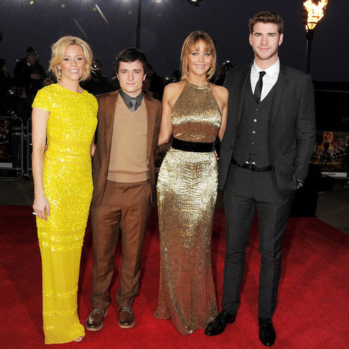 The Hunger Games London Premiere Pictures of Jennifer Lawrence, Josh Hutcherson, Liam and Chris Hemsworth