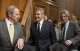 George Clooney at Senate meeting.