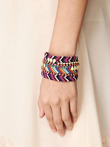This cuff gives you the illusion of a stack of friendship bracelets.  Free People Embellished Friendship Cuff ($38)
