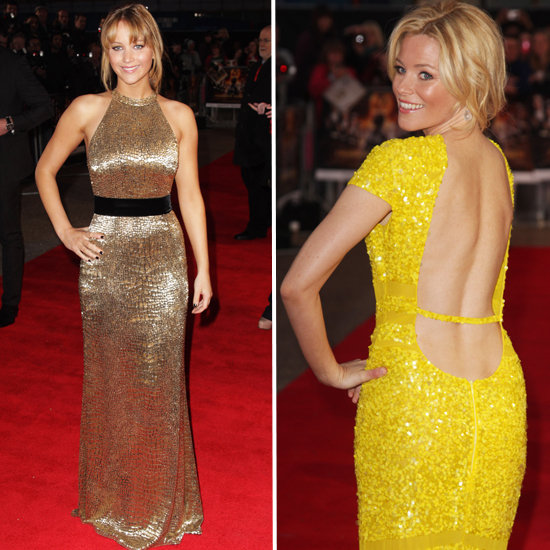 Jennifer Lawrence and Elizabeth Banks Stun in Bold Dresses at The Hunger Games' London Premiere