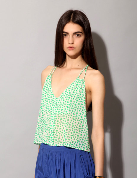 A dainty, delicate printed tank is a Spring must have.  Pixie Market Green Apple Print Top ($40)