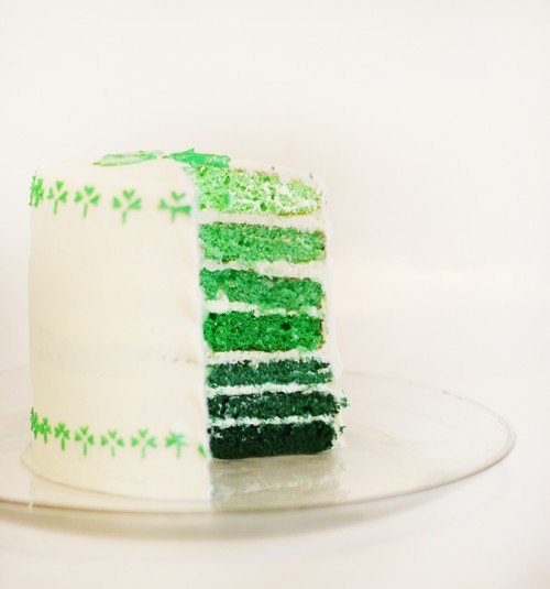 Green Layered Cake