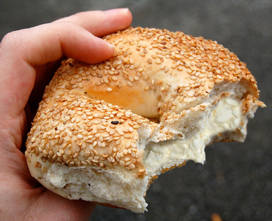 Lunch: Cottage Cheese on Your Bagel Instead of Cream Cheese