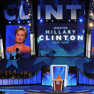 Hillary Clinton Speaks at the Democratic National Convention