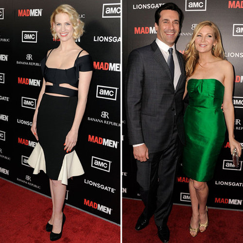 January Jones, Jon Hamm at Mad Men Premiere Pictures