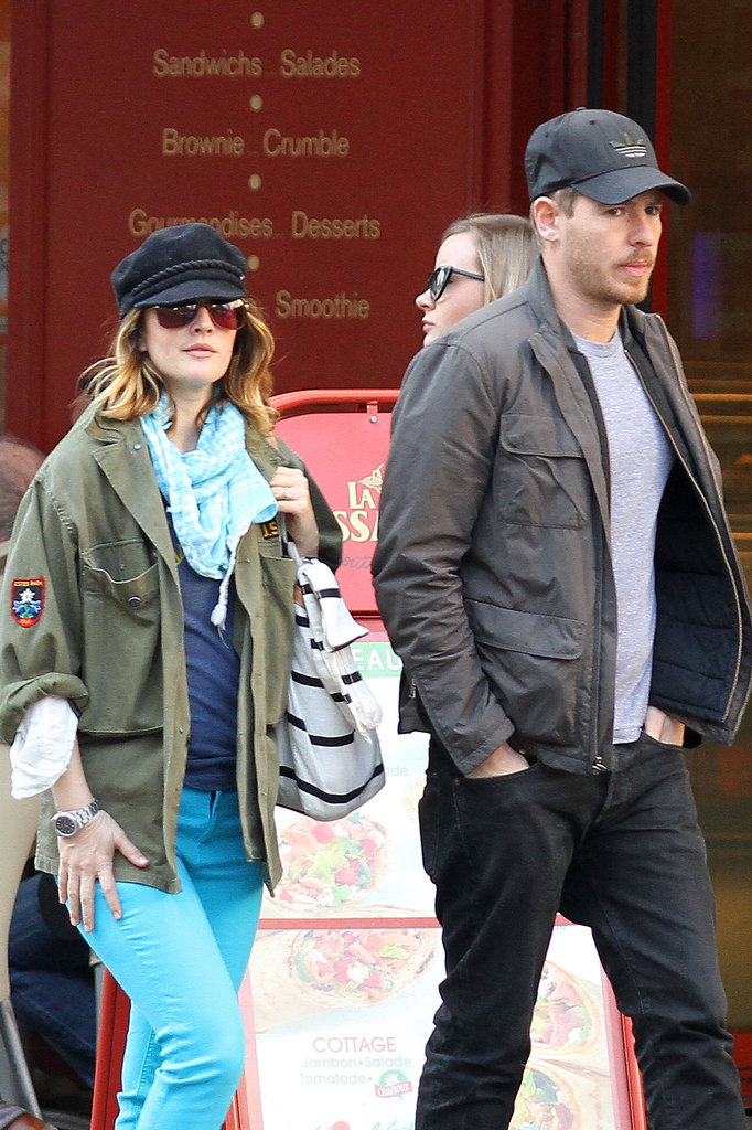 Drew Barrymore and Will Kopelman toured Paris in March 2012.