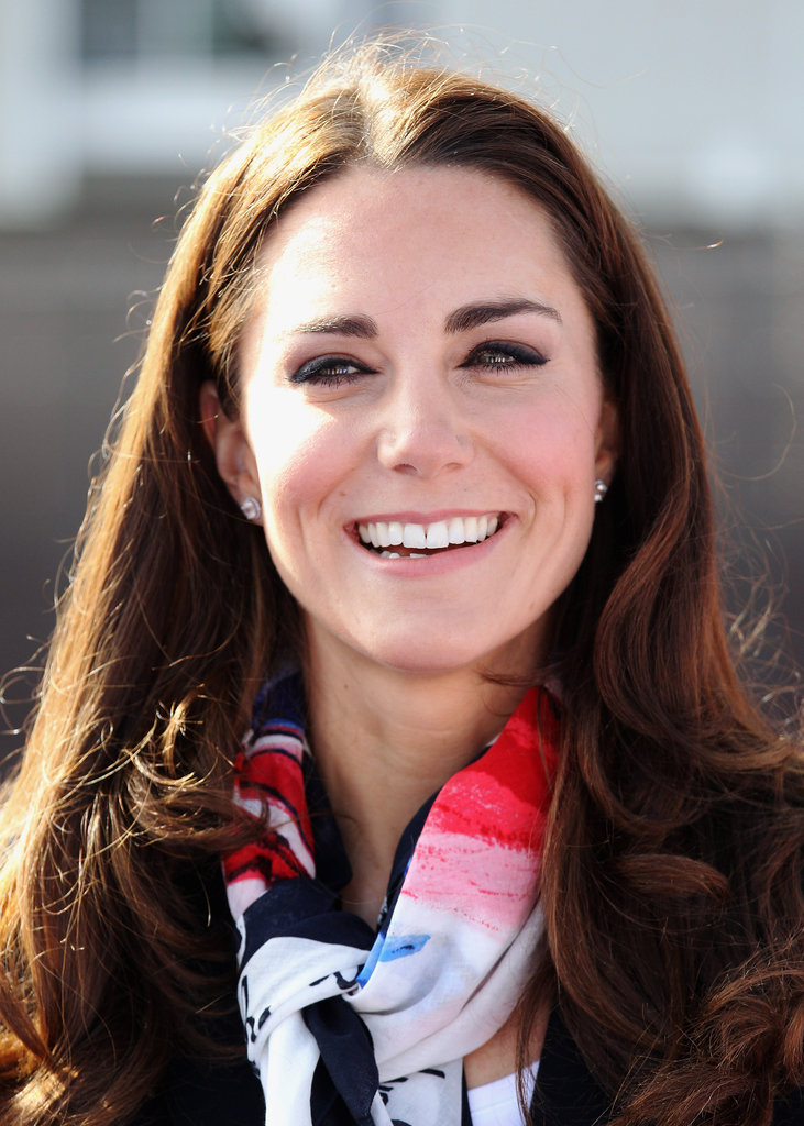 Kate Middleton in London's Olympic Park.