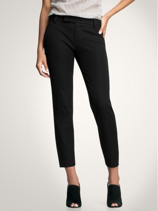 Everyone needs a pair of black cropped pants; these are superflattering and hit your ankle at the perfect spot.  Gap Slim Crop Pants ($50)
