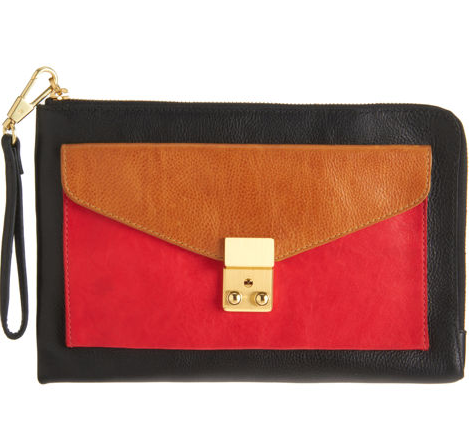 3.1 Phillip Lim Colorblock Small Pashli Zip Clutch ($425)