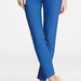 Inject a jolt of color into your wardrobe with these cobalt blue cropped pants, then finish off with a floral blouse and ankle strap sandals.