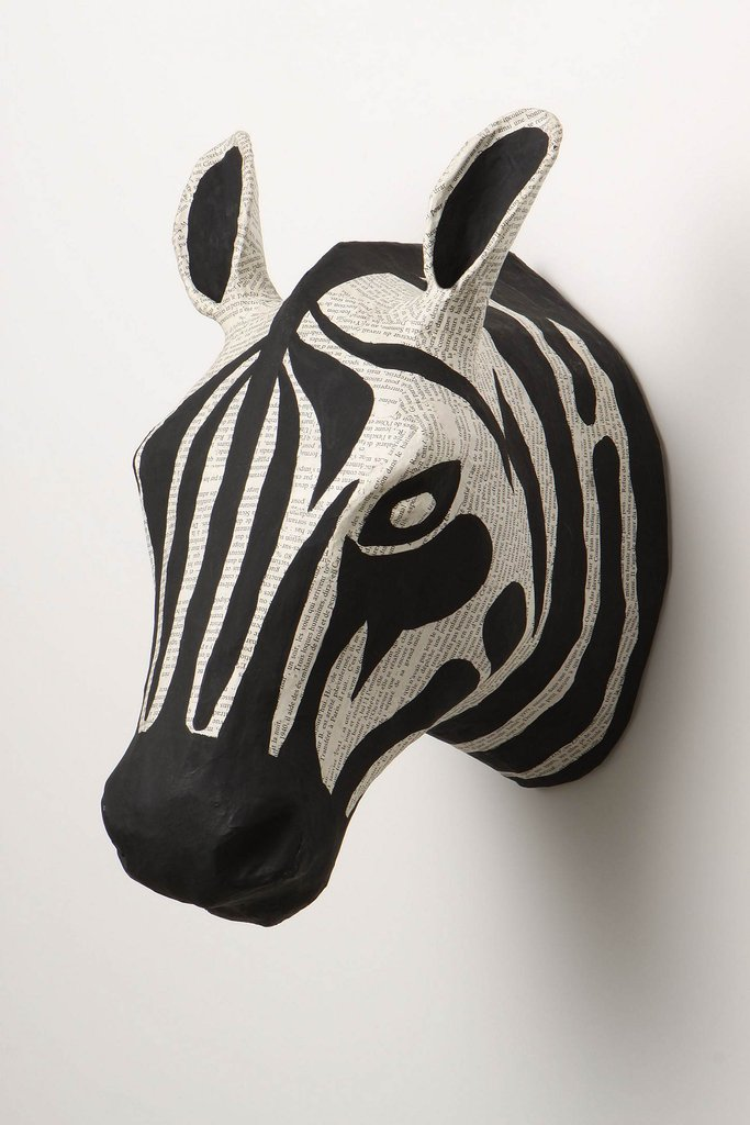 Anthropologie Papier-Mache Zebra Head ($68)
