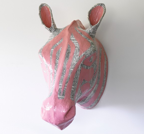 Dwell Studio Papier-Mache Zebra Head ($76)