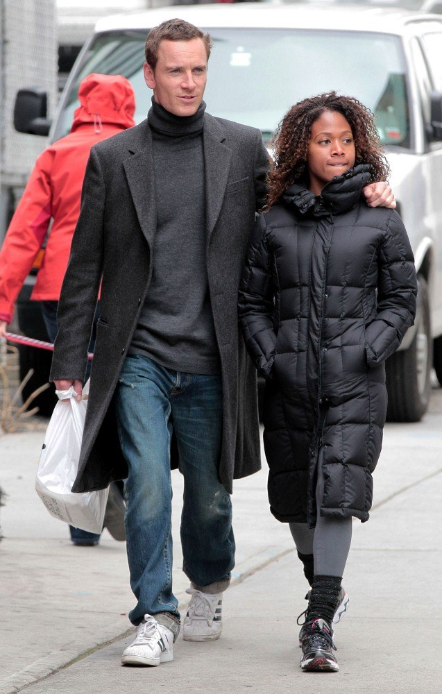 Michael Fassbender and Nicole Beharie in NYC.