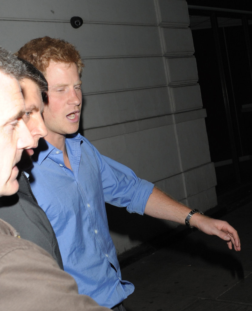 Prince Harry out in London.