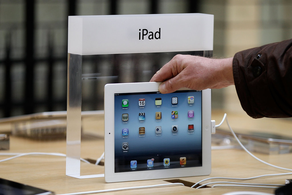 The iPad on display.