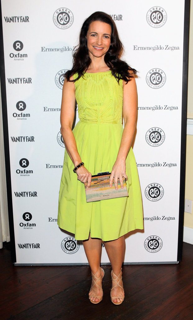 Kristin Davis wearing a modified dress from H&M's Exclusive Glamour Conscious Collection