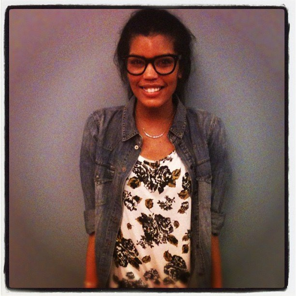 Our adorable assistant editor showed off her florals for our #Fabstylesnap challenge.