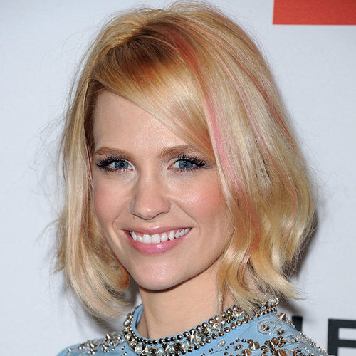 January Jones Joins the Pink Hair Brigade