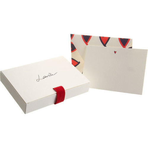 Lanvin Icon Airmail Heart Stationery