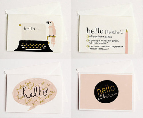 Hello Card SET 4pcs