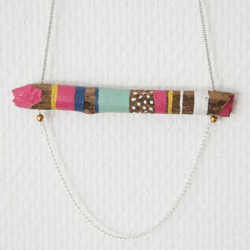 Wood connected necklace VI