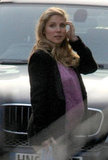 Pregnant Elsa Pataky in London.