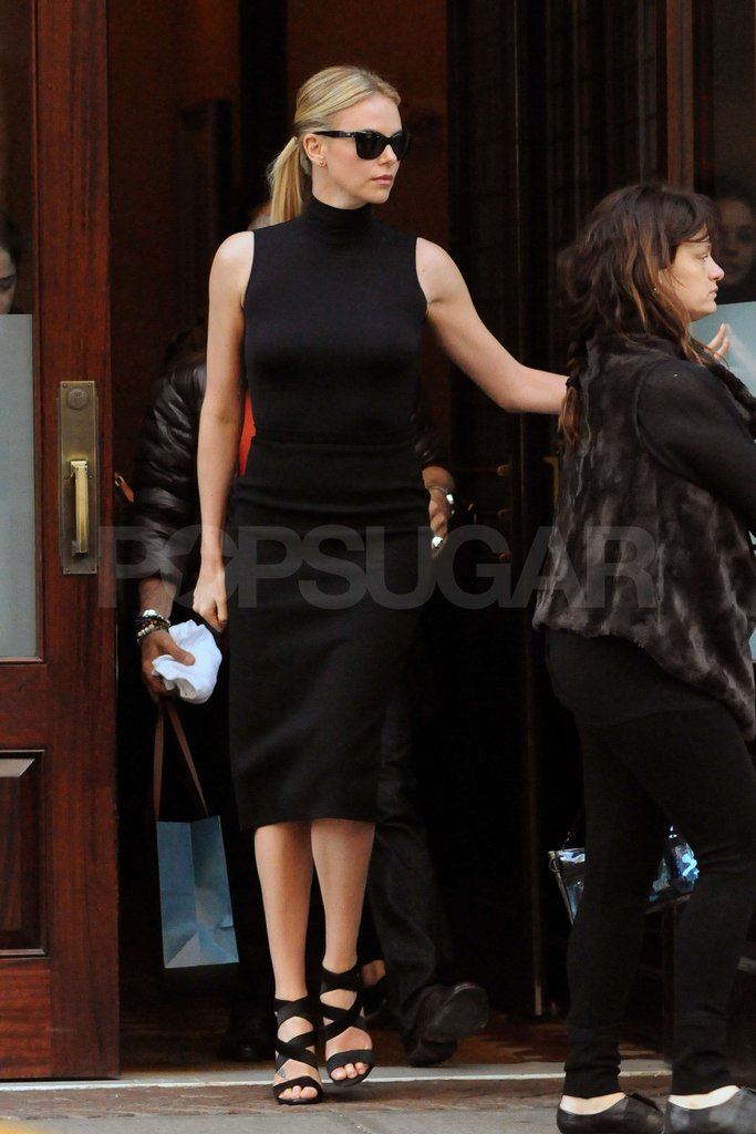 Charlize Theron after an interview with The Today Show in NYC.