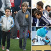 David Beckham and Sons at LA Galaxy Game