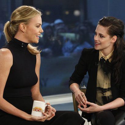 Charlize Theron and Kristen Stewart talked about their epic fairy tale.