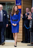 Kate Middleton wore a blue Reiss number for her first public address.