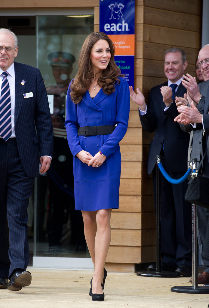 Kate Middleton wears a blue Reiss number for her first public address.