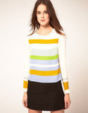 Up your office look with this colorblocked blouse. Just pair it with a black skirt or white trousers for a refreshing Spring look.  Whistles Ceceile Stripe Top ($170)