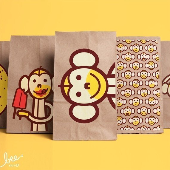 Monkey Snack Sacks ($18/10-pack)