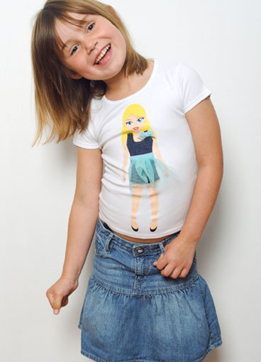 Lotty Dotty Paper Doll T-Shirts ($45)