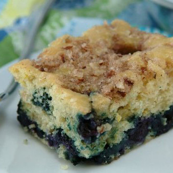 Healthy Blueberry-Lemon Coffee Cake Recipe