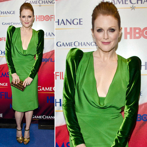 Julianne Moore Mixes Two Shades of Green
