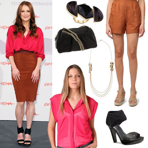 Julianne Moore Mixes Hot Pink With Rust