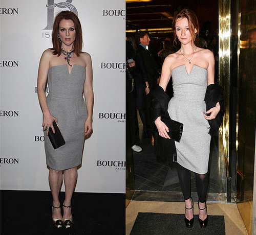 Julianne Moore Dons Gray Yves Saint Laurent
