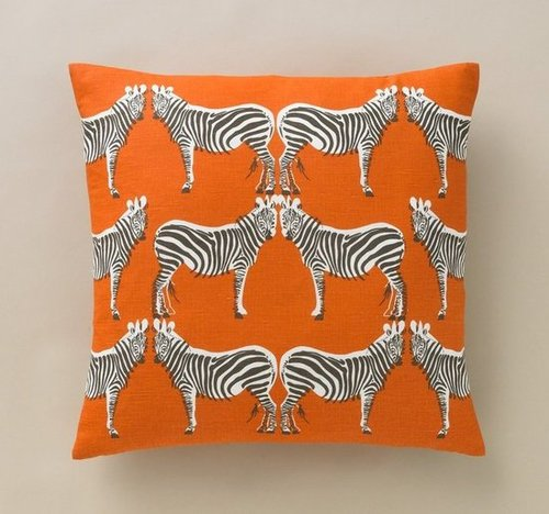 Zebra Tangerine Pillow