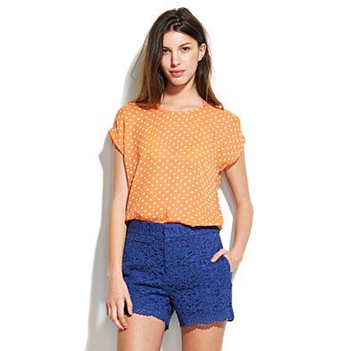 Citrus Dot silk Tee