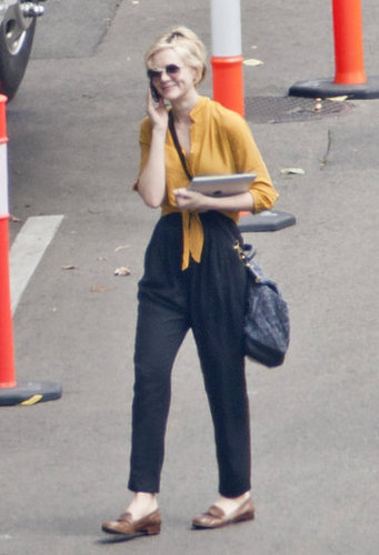 Carey Mulligan Pulls Off Penny Loafers