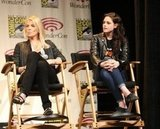 Charlize Theron and Kristen Stewart at WonderCon.