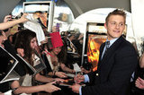 Alexander Ludwig spent time with fans at the Hunger Games premiere in Canada.