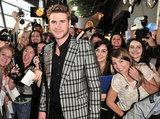 Liam Hemsworth posed with fans at the Hunger Games premiere in Canada.