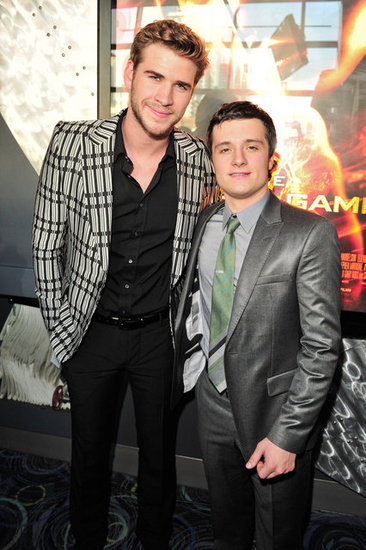 Liam Hemsworth and Josh Hutcherson at the Hunger Games premiere in Canada.