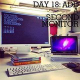 Increase your productivity by adding a second monitor.