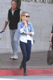 Kate Bosworth played with denim on denim and the ombre trend in a 7 For All Mankind button-down.